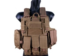 MetalTac Special Force Tactical Vest w/ Full Pouch System + Plate Carrier