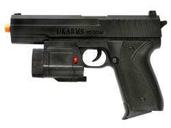 UKARMS M55AF SW Spring Airsoft Pistol with Laser and Light Module