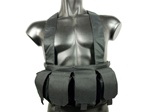 Black 6 Pocket Light duty chest Rig