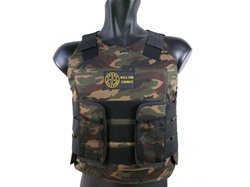 Well Fire Combat Low-Profile Personnel Protection Vest (Woodland Camouflage)