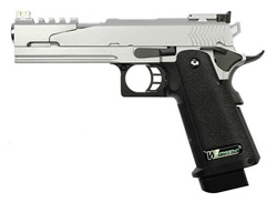 WE Hi Capa 5.1 Dragon Style B Full Metal Gas Blowback Pistol Airsoft Gun (Silver)
