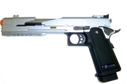 WE High Capa Dragon 7 inch Full Metal Gas Gun (Silver)