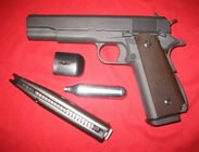 WE Full Metal M1911 Hi-Capa Gas BlowBack Airsoft Gun with Co2 Compatible Magazine