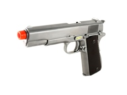 WE Full Metal M1911 Gas BlowBack Airsoft Gun (Silver)