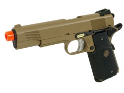 WE Full Metal 1911 Tactical MEU Gas BlowBack Airsoft Gun (Tan)