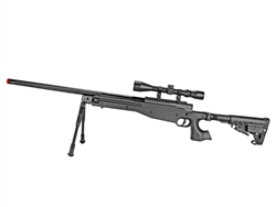 Well L96 AWP Bolt-Action Airsoft Sniper Rifle Command Stock w/ 4-16x50 Attacker Scope & Bi-Pod Package
