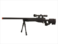 Well L96 AWP Airsoft Sniper Rifle w/ 3-9x40 Scope & Bi-Pod MAX Upgrade Spring & Trigger Box 500+ FPS