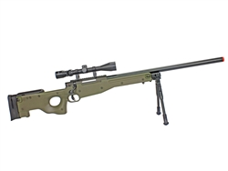 Well L96 AWP Bolt-Action Sniper Airsoft Rifle w/ 3-9x40 Scope & Bi-Pod (Olive Drab)