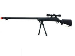 Well MB07 Airsoft Sniper Rifle Military Version w/ Fluted Barrel Black