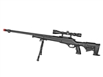 Well MB11 Bolt-Action Airsoft Sniper Rifle Tactical Riser Stock w/ 3-9x40 Variable Zoom Scope & Bi-Pod Package
