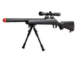 Well Sniper Rifle VSR-10 Bolt Action Rifle Short Barrel with 3x Scope Airsoft Sniper Gun, Black