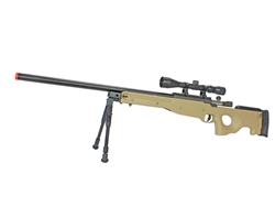 Well L96 Bolt Action Spring Sniper Rifle (Tan) MB01