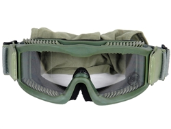 Lancer Tactical CA-221B Clear Lens Vented Safety Airsoft Goggles (Olive Drab), Maxiumum Protection & Air Flow