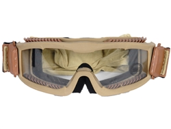 Lancer Tactical CA-221B Clear Lens Vented Safety Airsoft Goggles (Tan), Maxiumum Protection & Air Flow
