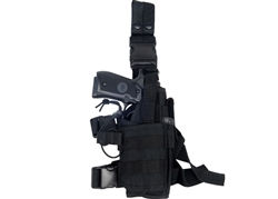 "Lancer Tactical ""Tornado"" Universal Drop Leg Holster for Pistol and Spare Magazine (Black)"