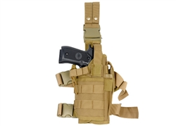 "Lancer Tactical ""Tornado"" Universal Drop Leg Holster for Pistol and Spare Magazine (Tan)"