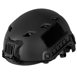 Lancer Tactical CA-334B  FAST BaseJump Type Airsoft Helmet w/ Integrated NVG Mount and Rails Mounts (Black)