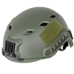 Lancer Tactical CA-334T FAST Type Basic Airsoft Helmet w/ Integrated NVG Mount, 2 Side Rails (Olive Drab)