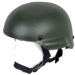 Lancer Tactical MICH 2002 Type Airsoft Protection Helmet with Integrated NVG Mount and Adjustable Retention Straps (Olive Drab)