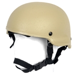 Lancer Tactical MICH 2002 Type Airsoft Protection Helmet with Integrated NVG Mount and Adjustable Retention Straps (Tan)