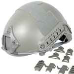 Lancer Tactical FAST Type Airsoft Helmet Deluxe Edition w/ Integrated NVG Mount and RIS Rails Mounts (Olive Drab)