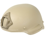 Lancer Tactical MICH 2002 Type Airsoft Helmet w/ Integrated NVG Mount and Velcro Panels (Tan)