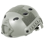 Lancer Tactical CA-738 FAST PJ Type Basic Airsoft Helmet w/ Integrated NVG Mount, 2 Side Rails (Olive Drab)