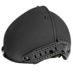 Lancer Tactical CA-761 AirForm Type Basic Airsoft Helmet w/ 2 Side Rails (Black)
