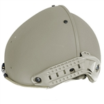 Lancer Tactical CA-761 AirForm Type Basic Airsoft Helmet w/ 2 Side Rails (Olive Drab)