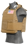 Lancer Tactical CA-302 Body Armor Vest with Mock Ballistic Style Plates (Tan)