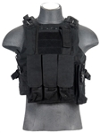 Lancer Tactical CA-304 Tactical Plate Carrier Vest (Black)