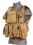 Lancer Tactical CA-307 Modular Chest Rig (Tan)