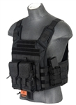 Lancer Tactical CA-313 Speed Attack Plate Carrier (Black)