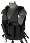 Lancer Tactical CA-314 Reinforced Cross-Draw Tactical Vest (Black)