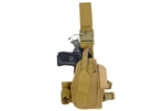 Lancer Tactical 92F Drop Leg Holster for M9 Pistols and Spare Magazine (Tan)