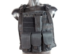 MetalTac MOLLE Panel Vest with 5 Modular Pouches (Black)