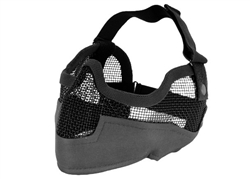MetelTac Half-Face Metal Wired Mesh Mask Version 2 (Black)