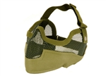 MetelTac Half-Face Metal Wired Mesh Mask Version 2 (Olive Drab)