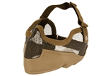 MetelTac Half-Face Metal Wired Mesh Mask Version 2 (Dark Earth Tan)