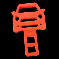 3D Printed Seatbelt Silencer Countryman