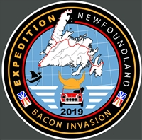 Bacon Invasion Expedition Big Door Decal  11.50 x 11.50