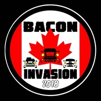 Bacon Invasion 2018 FLAG Vinyl Decal