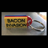 Custom LEGO Bacon Invasion Keychain