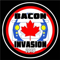 Bacon Invasion 2018 MINI Vinyl Decal or Grill Badge