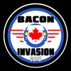 Bacon Invasion 2018 Blue MINI Wings Vinyl Decal or Grill Badge