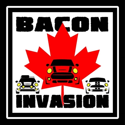 Bacon Invasion 18 Square Vinyl Decal