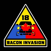 Bacon Invasion 2018 Triangle Vinyl Decal