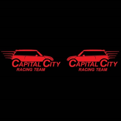 Capital City MINIs Race Team Left Right Set