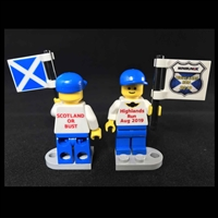 The Scotland Highland Run 2019 LEGO Minifig Flag Boy