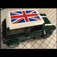 Union Jack Roof Sticker for LEGO Mini